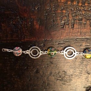 Jewelry - Sterling silver and glass bead bracelet